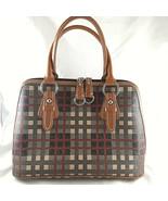 """GIANI BERNINI SAFFIANO Faux Leather Holiday Plaid Handbag Purse 9 X13"""" +... - $29.69"""