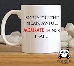 "personalised,Rude, novelty ""ACCURATE"" mug birthday, christmas, secret santa - $9.73"