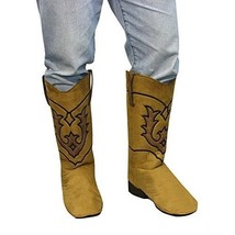 Adult Brown Cowboy Western Costume Accessory Boot Tops - $31.37