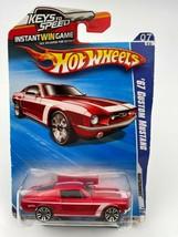 Hot Wheels 67' Custom Mustang Red Nightburnerz 10' 07/10 R7520-09GPQ  - $10.69