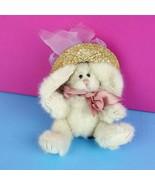 Boyds Bear Rabbit Gieselle De La Fleur Plush Easter Bunny Straw Hat Join... - $13.85