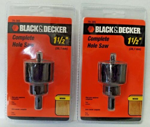 "Primary image for Black & Decker 79-365 1-1/2"" Hole Saw With Mandrel 2PKS"