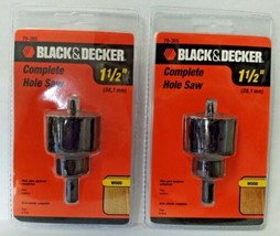 "Black & Decker 79-365 1-1/2"" Hole Saw With Mandrel 2PKS - $4.75"