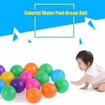 100 Pieces Colorful Ocean Ball Pit Soft Plastic Toy For Baby Kid Childre... - £18.64 GBP