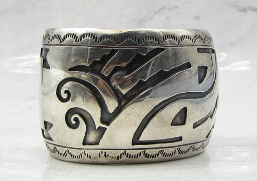 925 Sterling Silver - Industrial Woven Design 44.5mm Heavy Cuff Bracelet B1025 image 2