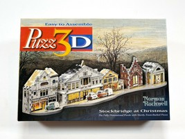 Norman Rockwell Stockbridge At Christmas Puzz 3D Puzzle 174 Pieces - $18.99