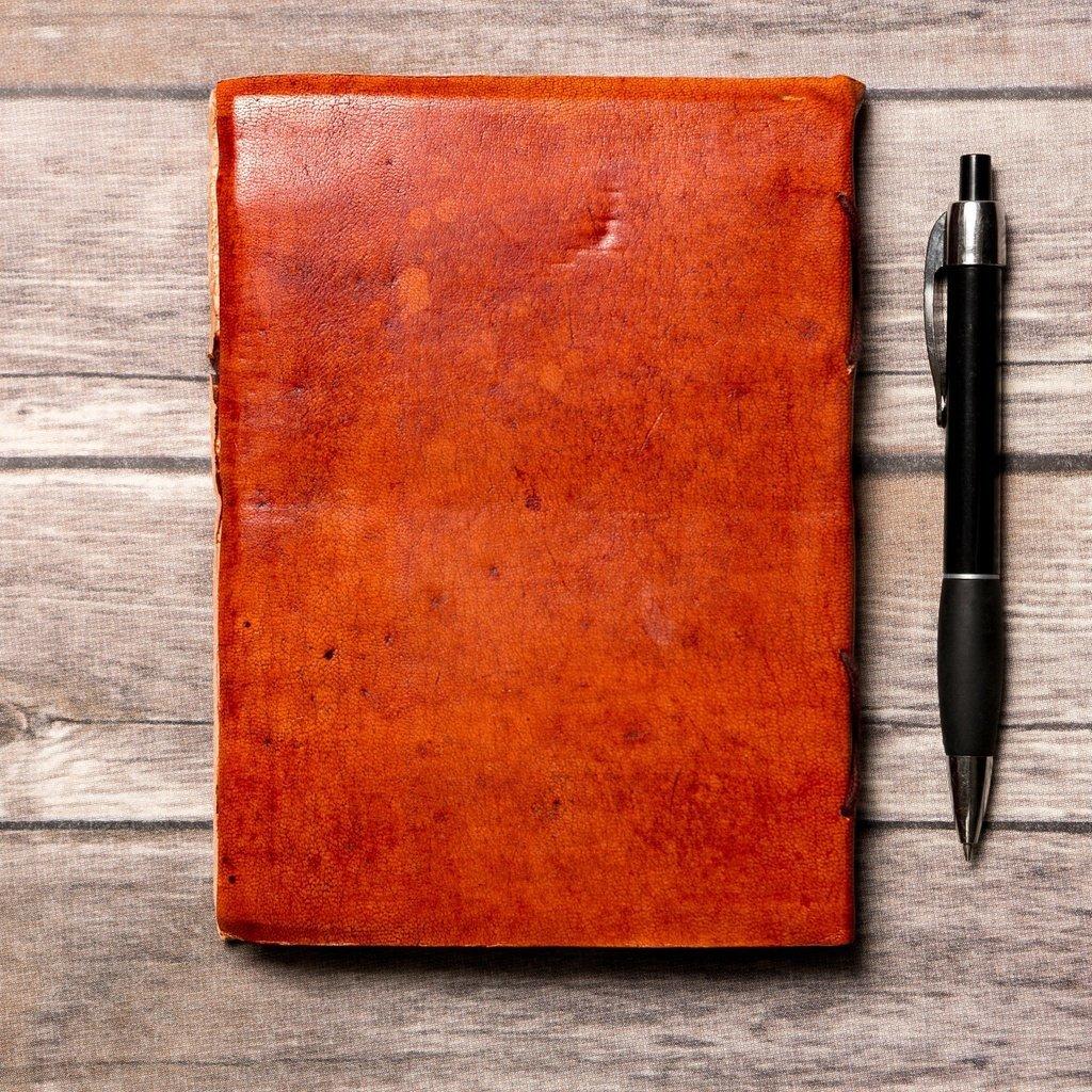 """C'est La Vie"" Handmade Leather Journal"