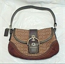 Small Coach f10925 Signature Handbag Shoulder Bag Purse - $19.80