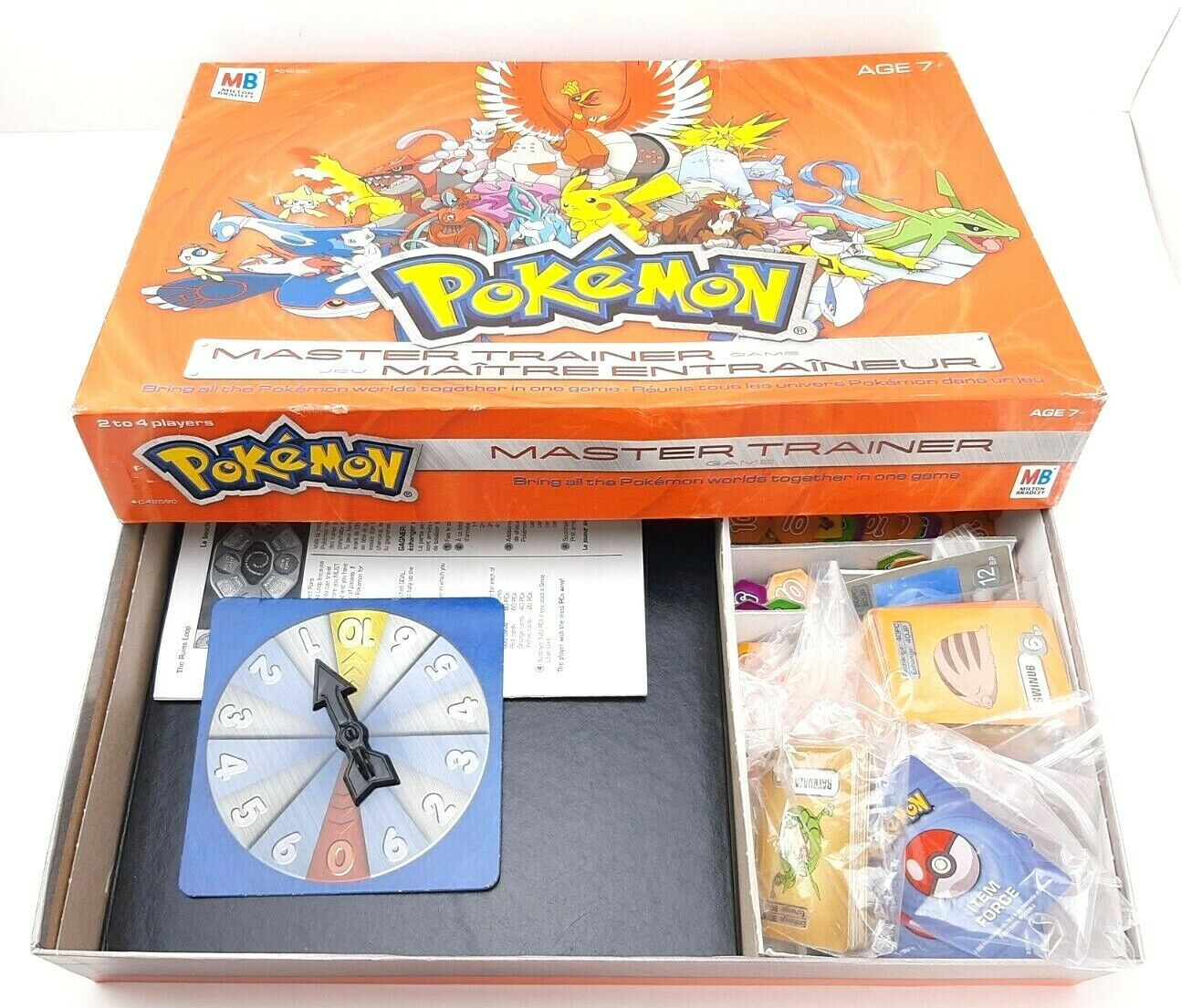 INCOMPLETE 2005 Milton Bradley Pokemon Master Trainer Board Game - $25.28