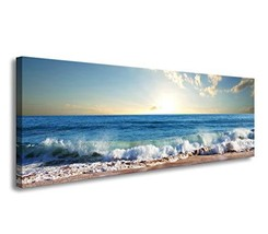 youkuart Canvas Prints Wall Art sea Canvas Print Paintings for Wall and ... - $61.48