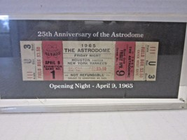 SGA 25th Anniversary OPENING NIGHT TICKET ASTRODOME 1965 Astros Yankees - $79.99