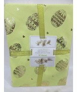 "Yellow Gold Metallic Easter Eggs Cloth  Fabric Tablecloth Decor 60x84"" 70""Round - $26.99"