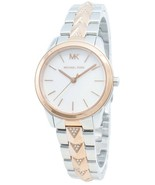 BRAND NEW MICHAEL KORS MK6717 RUNWAY MERCER ROSE GOLD & SILVER WOMEN'S W... - £136.27 GBP