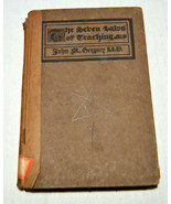 Antique 1917 Book Seven Laws of Teaching John GREGORY Baptism Sunday School - $28.49