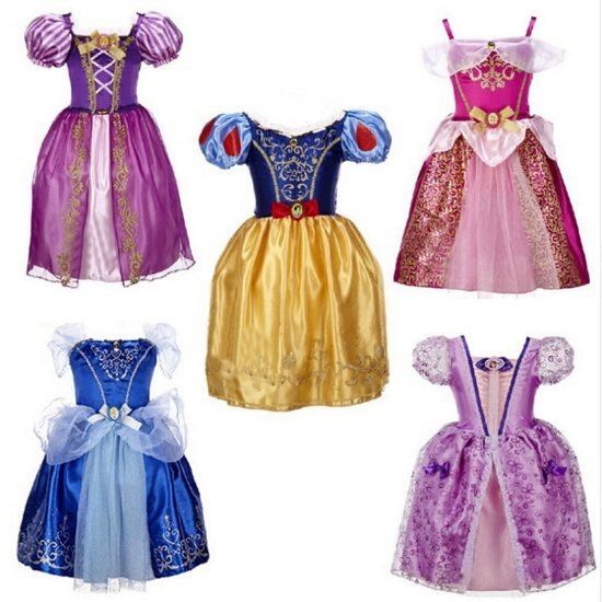 Used, Kids Cosplay Costume dress Cinderella Elsa Baby Girls fancy Princess Party Cloth for sale  USA