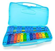 Angel Musical Instrument AG-25N2 Kids Music Glockenspiel Xylophone 25 Keys (Blue