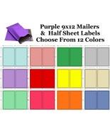9x12 Purple Poly Mailer + 8.5x5.5 Color Half Sheet Self Adhesive Shippin... - $2.99+