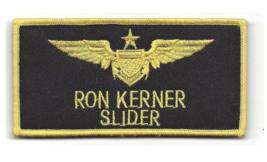 "4"" NAVY RON KERNER SLIDER AVIATION PILOT BLACK WINGS EMBROIDERED PATCH - $23.74"