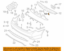 HYUNDAI OEM Sonata Rear Bumper-Impact Bar Rebar Beam Lower Bracket 866363S000 - $9.79