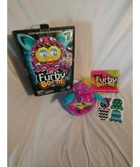 2013 Hasbro Furby Boom Peacock Pattern Pink, Purple, Teal - Tested and W... - $22.49