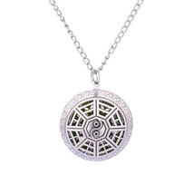Summer Aroma Diffuser Necklace Open Vintage Silver Lockets Pendant Perfu... - $6.05