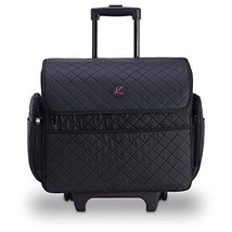 Kiota Professional Makeup Artist Rolling Travel Case (Midnight Black) - $127.71