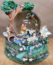 """Disney Snow Globe Bambi """"Little April Showers"""" Musical w/ Motion See video - $123.75"""