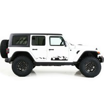 Sticker for Jeep Wrangler JL JK Side Mountain Sport Design Graphics Viny... - $41.39