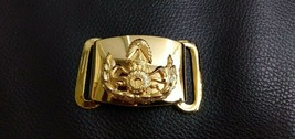 NEW Gold color Royal Thai Army belt buckle Soldier Thai Military Original Item - $9.50