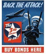 Back The Attack! The 3rd War Loan Is On! - 1943 - World War II - Propaga... - $11.99