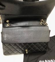 AUTHENTIC CHANEL BLACK QUILTED CAVIAR MAXI CLASSIC DOUBLE FLAP BAG GHW image 8