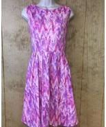 Modcloth Myrtlewood of California Dress Medium Pink Purple White Pockets... - $34.64