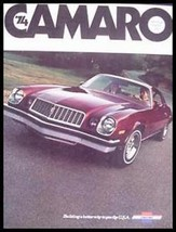 1974 Chevy Camaro Brochure, Sport Coupe LT Z28, Options - $4.13