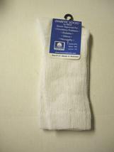 Diabetic Socks, Crew, Ladies, Size 9-11, White, By Eros, Brand New - $5.99