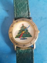 Christmas Tree.Vintage Unbranded Kid Or Small Band Women Watch.Needs Battery. - $14.01