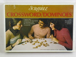 Scrabble Crossword Dominoes Board Game 1975 Selchow & Righter New Sealed - $14.85