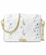 NWT Michael Kors Women's Jade Gusset Crossbody Clutch, White - $141.61