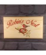 Large Robins Nest Plaque / Sign - House Garden Bird Gardening Garden Home - $21.22