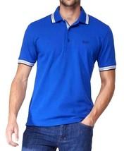 Hugo Boss Men's Premium Cotton Green Tag Sport Polo Shirt T-Shirt Blue