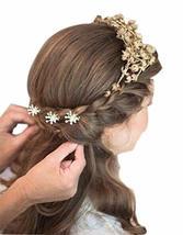 10 PCS Ingenious Snowflake Beads Hair Pins/Clips Headwears, White