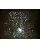 8 VINTAGE ORCHARD Glass CUPS APPLE PATTERN SHAPE SAUCERS Hazel-Atlas TEA TOAST - $29.99