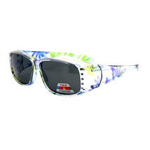 Womens Fit Over Glasses Polarized Lens Sunglasses Rhinestones Floral Prints - $12.42+