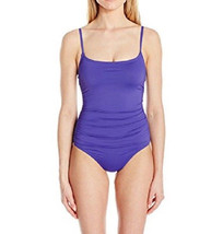 NEW Anne Cole Live in Color IRIS Shirred Lingerie One piece Swimsuit size 8 - $47.51