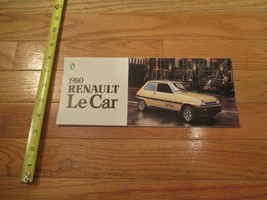 Renault Le car 1980 auto Dealer showroom Sales Brochure - $8.99