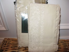 Ralph Lauren Village Mews Lace  Embroidered Cream Ruffled Standard Shams... - $109.20