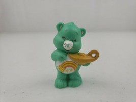 Vintage Care Bear WISH BEAR Figure Teal Blue Star 1984 AGC Toy Smiling W... - $8.00