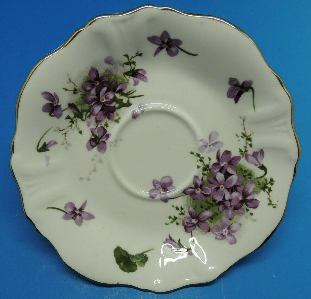 Primary image for Hammersley Victorian Violets Countryside Saucer Plate Fine Bone China England