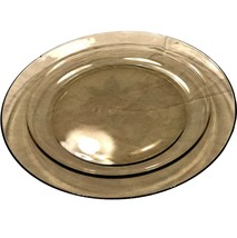 "Arcoroc France 9 3/8"" Smoke Gray grey glass dinner plate - $9.99"