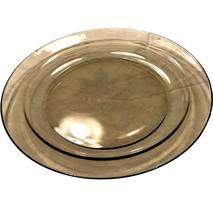 "Arcoroc France 9 3/8"" Smoke Gray grey glass dinner plate - $9.99"