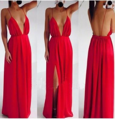 red Prom Dresses, 2017 Prom Dress,Dresses For Prom,sexy Prom Dress,Prom Dresses